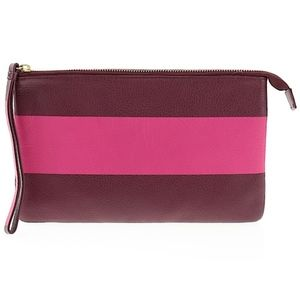 EUC GAP Real LEATHER Rugby Wristlet Bag